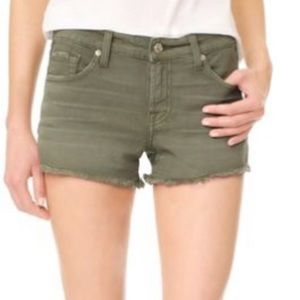 7 for all mankind Cutoffs